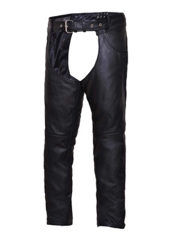 UNIK Unisex Premium Leather Motorcycle Chaps - SKU 720-K-UN