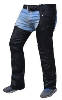 UNIK Unisex Premium Leather Motorcycle Chaps - SKU 7147-00-UN