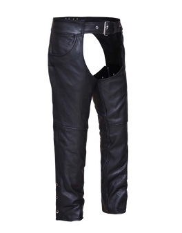 UNIK Unisex Ultra Jean Style Leather Motorcycle Chaps - SKU 720-NK-UN