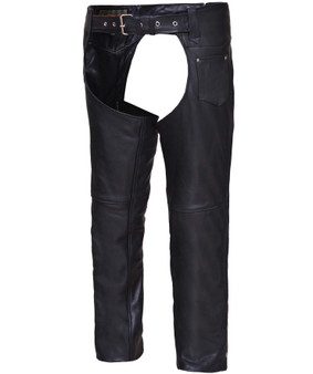 UNIK Unisex Ultra Leather Deep Pocket Motorcycle Chaps - SKU GRL-326-DP-UN