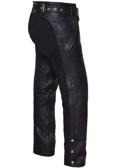 UNIK Unisex Ultra Leather Motorcycle Chaps - SKU GRL-6126-00-UN