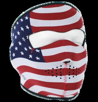 USA Flag Stars and Stripes Neoprene Full Face Mask - SKU GRL-FMB05-HI