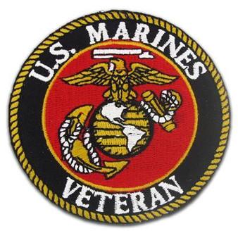 USMC U.S. Marines Veteran Vest Patch - SKU GRL-PPE1150-HI