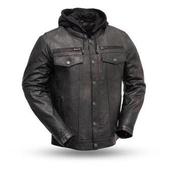 Vendetta - Men's Leather Motorcycle Jacket - SKU FIM276SDTZ-FM