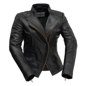 ZOEY - Ladies Leather Blazer - WBL1394-FM