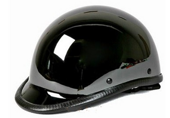 Black Chrome Polo Jockey Novelty Motorcycle Helmet - SKU HC104-01-DL