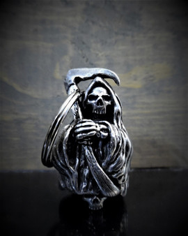 Grim Reaper - Pewter - Motorcycle Ride Bell - Made In USA - SKU BB54-DS
