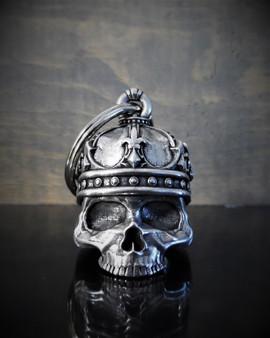 King Skull - Pewter - Motorcycle Gremlin Bell - Made In USA - SKU BB57-DS