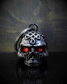 Celtic Skull Diamond - Pewter - Motorcycle Gremlin Bell - Made In USA - SKU BB72-DS