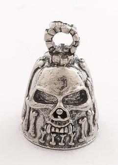 Bones - Skull - Pewter - Motorcycle Guardian Bell - Made In USA - SKU GB-BONES-DS