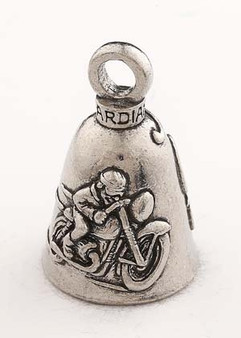 Cafe Racer - Pewter - Motorcycle Guardian Bell - Made In USA - SKU GB-CAFE-RACER-DS
