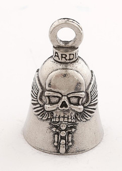 Ghost Rider - Skull - Pewter - Motorcycle Guardian Bell - Made In USA - SKU GB-GHOST-RIDER-DS