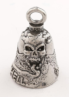 Highway To Hell - Skull - Pewter - Motorcycle Guardian Bell® - Made In USA - SKU GB-HIGHWAY-TO-H-DS
