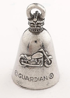 Keep Calm And Ride On - Pewter - Motorcycle Guardian Bell® - Made In USA - SKU GB-KEEP-CALM-DS