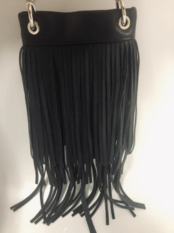 Black Crossbody Handbag With Fringe - SKU CHIC931-BLK