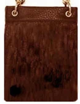 Brown Crossbody Handbag - Simple and Sleek - SKU CHIC547-DKBR