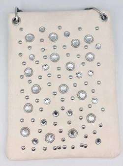 Pewter Crossbody Handbag With Crystal Bling - SKU CHIC07-PWTR-DS