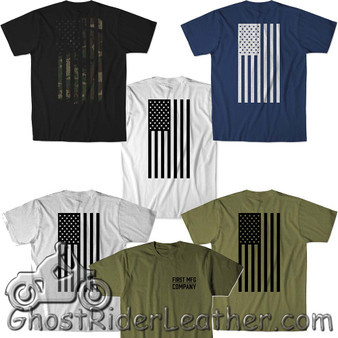 T-Shirt With Flag - Choice Of 5 Colors - T-Shirts Made For Riding - SKU FIT-004-FM