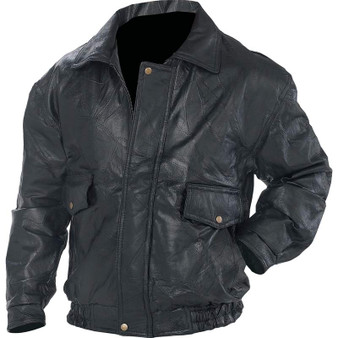 Men's Roman Rock Patchwork Leather Bomber Style Motorcycle Jacket - Big Sizes - SKU GFEUCT-BN