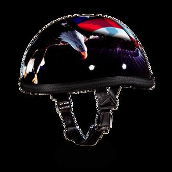 Novelty Eagle Freedom Motorcycle Helmet - Daytona Helmets Eagle Style - SKU 6002FR-DH