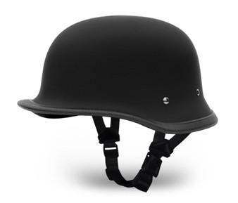 Big German Dull Flat Black Novelty Motorcycle Helmet - Daytona Helmets - SKU 1005B-DH