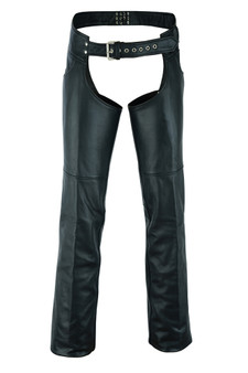 Men's Tall Leather Chaps - Motorcycle Chaps - Big and Tall - SKU DS-447TALL-DS