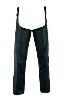Men's Beltless Leather Chaps - Unisex Motorcycle Chaps - DS-424-DS