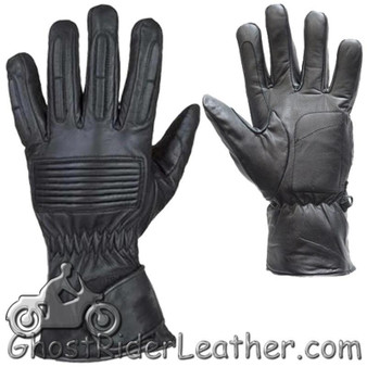 *IRREGULAR* Mens Full Finger Leather Motorcycle Riding Gloves - SKU GRL-GL2099-00-DL