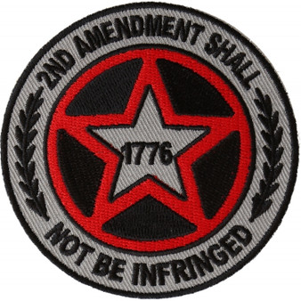 2nd Amendment Shall Not Be Infringed Star Patch - Buy One Get One Free - Vest Patch - P6570-DS