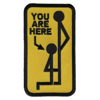 You Are Here - Stick Figures BJ - Patch - Buy One Get One Free - Vest Patch - P1272-DS