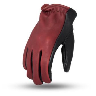 2-Tone Leather Driving Gloves - SKU GRL-FI217-FM