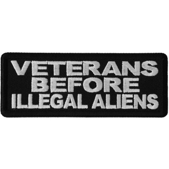 Veterans Before Illegal Aliens Patch - Buy One Get One Free - Vest Patch - P6692-DS