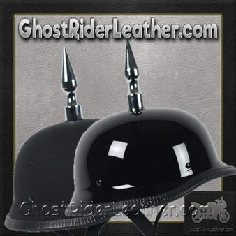 4.5 Inch Spike German Novelty Motorcycle Helmet Flat or Gloss - SKU GRL-4.5INCH-SPIKE-GERMAN-NOV-HI
