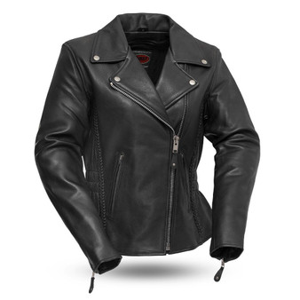 Allure - Women's Figure Flattering Leather Motorcycle Jacket - SKU FIL103MNZ