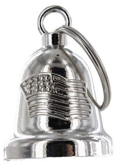 American Flag - Chrome Motorcycle Ride Bell - SKU GRL-BLC21-DL