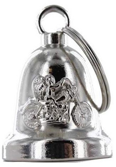 Angel Riding Motorcycle - Chrome Motorcycle Ride Bell - SKU GRL-BLC19-DL