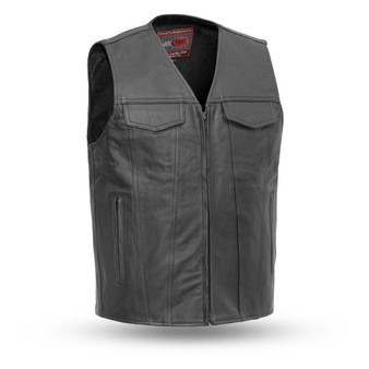 Badlands - Naked Leather Motorcycle Riding Vest - SKU GRL-FIM617CFD-FM