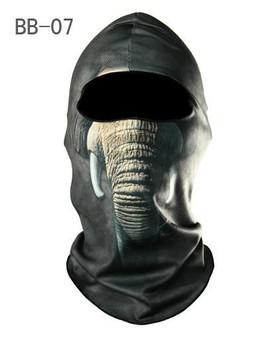 Balaclava Full Face Mask - Elephant Design - SKU GRL-FMU08-BALA-HI