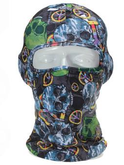 Balaclava Full Face Mask - Peace Skull Design - SKU GRL-PEACESKULL-BALA-HI