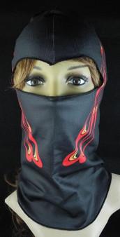 Balaclava Full Face Mask - Peacock Flame Design - SKU GRL-FMU15-BALA-HI