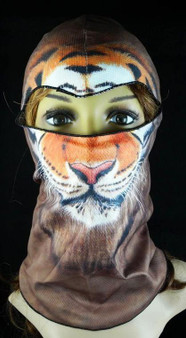 Balaclava Full Face Mask - Tiger Design - SKU GRL-FMU13-HI