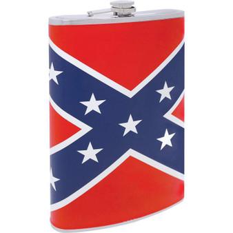 Be A Rebel 64oz Stainless Steel Flask with Rebel Flag Wrap - SKU GRL-KTFLASK64RBL-BN