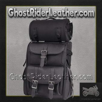 Big PVC Motorcycle Sissy Bar Bag - SKU GRL-SB11-NO-STUD-DL