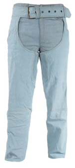 Blue Leather Chaps with a Denim Look - SKU GRL-C332-15-DL