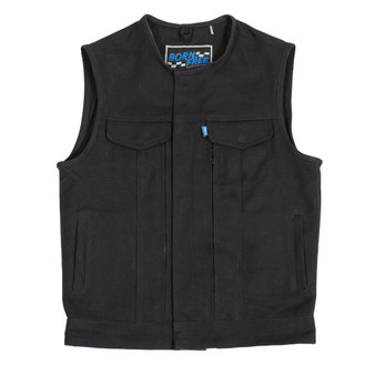 Born Free Fairfax V2 Mens Canvas Motorcycle Vest - BFM637CNVS