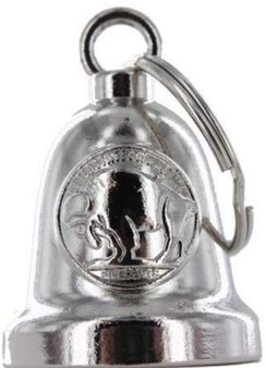 Buffalo Nickel - Chrome Motorcycle Ride Bell - SKU GRL-BLC34-DL