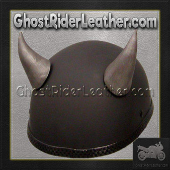 Bull Horns - Helmet Horns - Large Curved Horns - Motorcycle Helmet Accessories / SKU GRL-HA-21S-HI