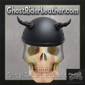Bull Horns - Helmet Horns - Ogre Horns - Motorcycle Helmet Accessories - SKU HA-11B-HI