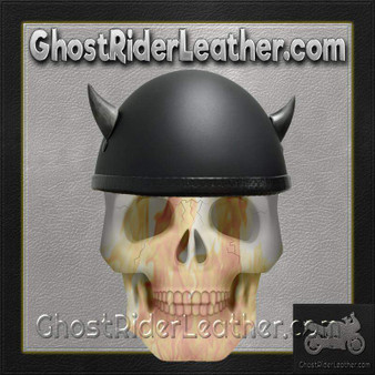 Bull Horns - Helmet Horns - Silver Devil Horns - Motorcycle Helmet Accessories - SKU HA-19S-HI