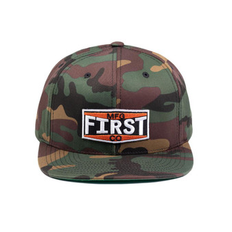 Camo Logo Hat - Ball Cap - First MFG Company - SKU BF6089CM-FM